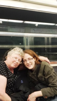 43-metro ride home after shes cake